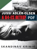 JussiAdlerOlsen-A64esBetegnaplo