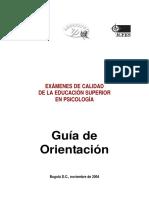 Pg Saberpro Examenes Calidad Educacion Superior Guia Orientacion2004