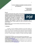 Desenvolvimento Local, Turismo e Economia Solidária Em Porto