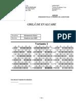 Grila de Evaluare Mate-Fizica-Varianta 1-2009