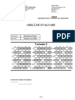 Grila de Evaluare Mate-Fizica-Varianta 2-2009