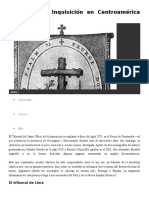 Etapas de La Inquisición en Centroamérica