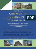 Housing Plan Meeting Announcement