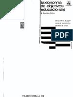 Livro Taxonomia de Objetivos Educacionais - domínio afetivo