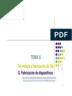 Carrera de electrónica - Materiales Electrónicos - Tecnología y Fabricación de CIs - Tema 7 - Universidad de Salamanca