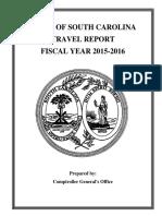 SC Govt Travel Report for 2015-16
