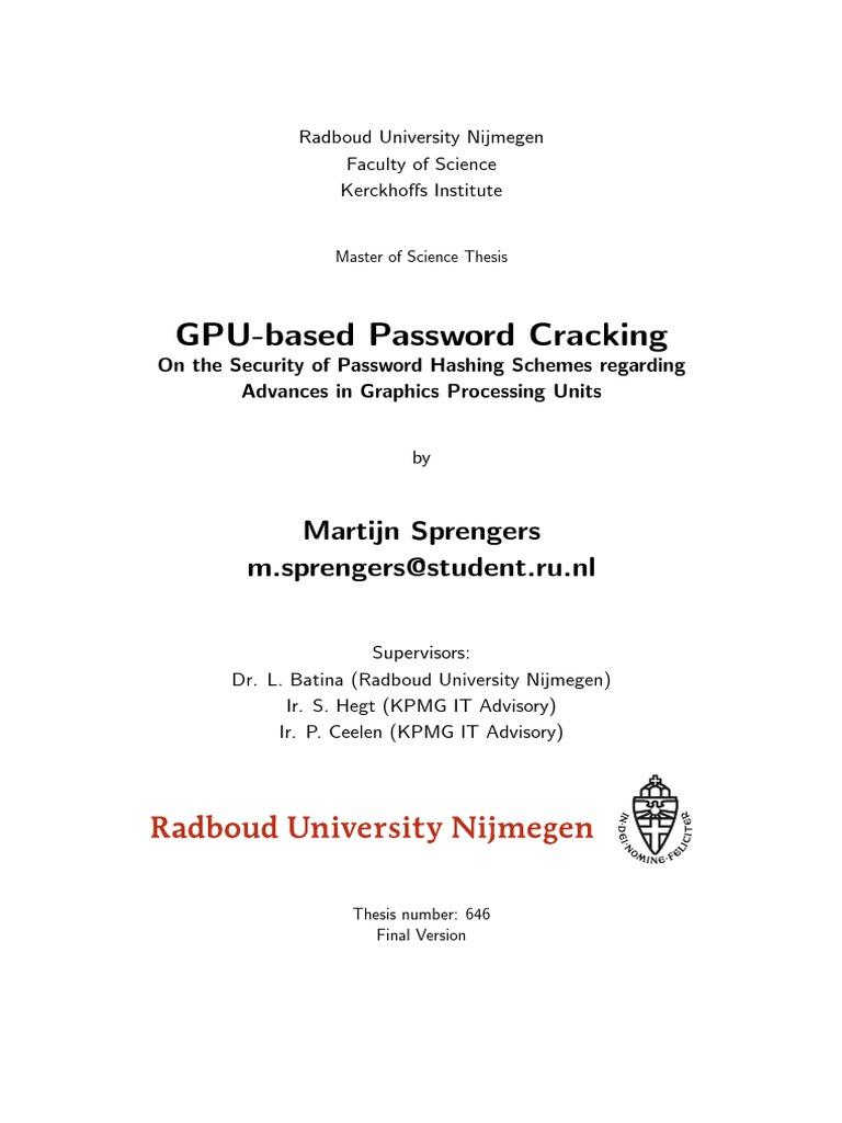 Master thesis on steganography