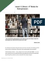 An+Entrepreneurs+Library_67+Books+for+Entrepreneurs
