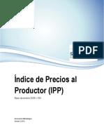 Indice de Precios Al Productor Documento Metodologico