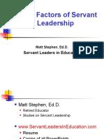 Seven Factors of Servant Leadership