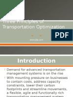 threeprinciplesoftransportationoptimization-120625224119-phpapp01