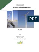 Working Paper - Current Tariff of Wind Eergy in Pakistan