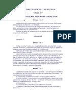 Constituc. Politica Italiana- Parte