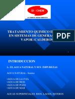 Tratamiento quimico de aguas en sistemas de generacion de vapor (CALDEROS)