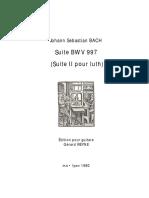 BACH J.S. - Lute Suite BWV 997 (MS) (transc Gérard Reyne) (guitar - chitarra)