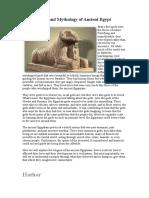 Gods and Mythology of Ancient Egypt