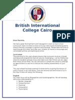 bicc parents curriculum letter y6 november 2016
