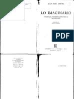 Sartre, J.p- Lo Imaginario (1)