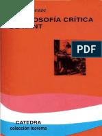 DELEUZE, Gilles (1963) - La filosofía crítica de Kant (Cátedra, Madrid, 1997-2008)