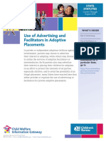 Advertising guidelines for domestic adoption