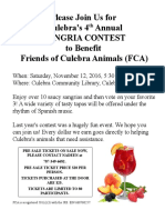 4th Annual Sangria Contest Fundraiser!