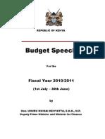 2010-2011 Budget