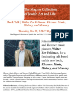 Book Talk | Walter Zev Feldman. Klezmer
