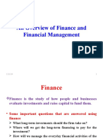 Over View of Finance