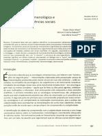 Hermenêutica-fenomenológica e Compreensão Nas Ciências Sociais.