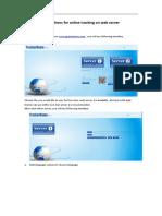 Instructions for Web Server Online Tracking v3.0