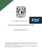 Instructivo de Uso Para Redes Sociales Institucionales de La Unam