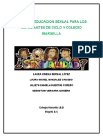 Cartilla Educacion Sexual Para Los Estudiantes de Ciclo v Colegio Marsella