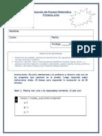 Evaluación de Proceso Matemática Unidad 3