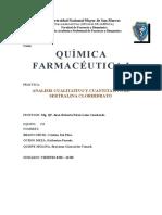 Analisis Cualitativo y Cuantitativo de Sertralina Clorhidrato