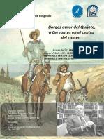 Afiche Borges Autor Del Quijote(1)