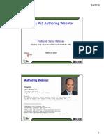 PES Authoring Webinar PES Template Saifur Rahman