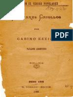 Ezeiza, Gabino - Cantares Criollos