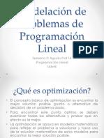 Modelacion de Problemas de Programacion Lineal