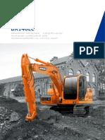 Catálogo Escavadeira DX 140 LC