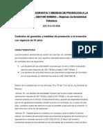 Contratos de Garantia y Medidas de Promocion a La Inversion Del Sector Minero