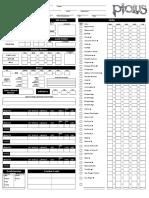 Ptolus Character Sheet