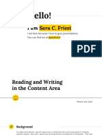 reading and writing in the content area