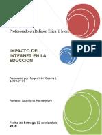Impacto Del Internet en La Educaciòn
