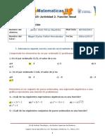 MIII-U3- Actividad 2. Función Lineal