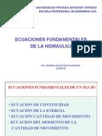 Ecuaciones Fundamentales de La Hidraulica