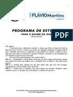 Programa de Estudos Oab - 2015.2