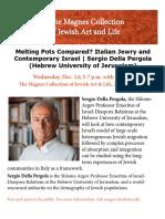 Melting Pots Compared? Italian Jewry and Contemporary Israel | Sergio Della Pergola (Hebrew University of Jerusalem)