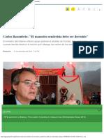 Carlos Basombrio El Mausoleo Senderista Debe Ser Derruido