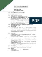 Modelo de Informe de Una Tasacion Nº 01