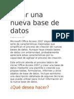 Crear Una Nueva Base de Datos